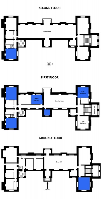 Floorplans of Doddington Hall, Lincolnshire