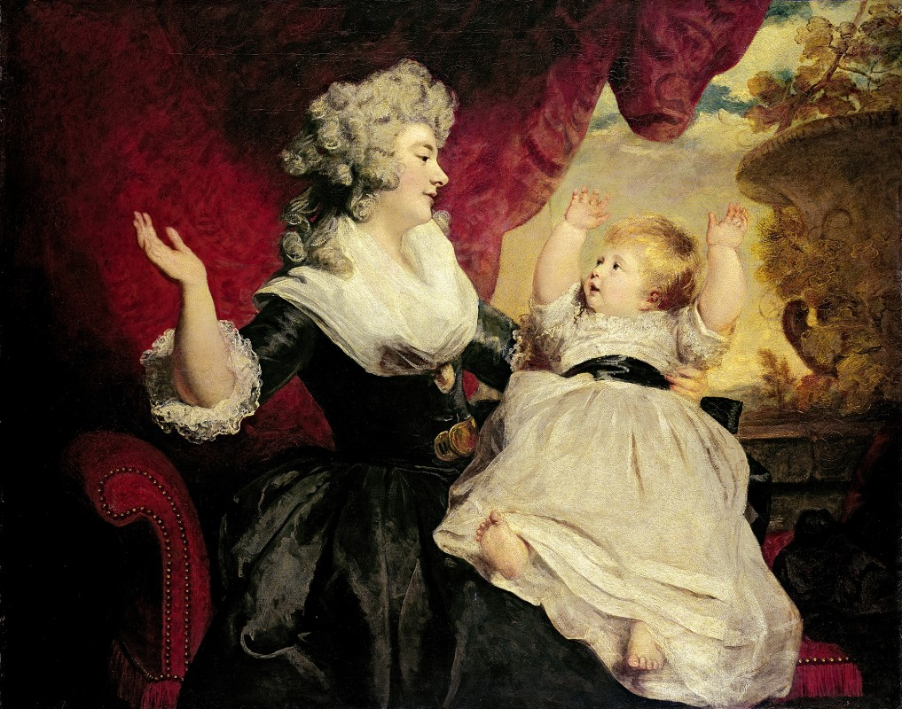 1784-6. Oil on canvas, 112.4 x 140.3 cm. The Devonshire Collection, Chatsworth.