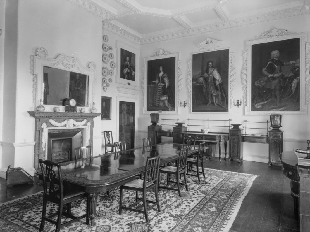 A view of the dining room at Wolterton Hall, Norfolk, in Gordon Nares, Wolterton Hall, Norfolk II
